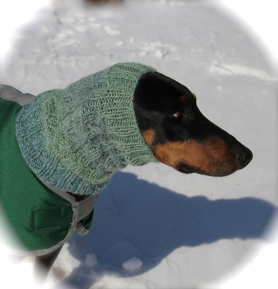 Hand knitted Snood for Dog classic cable pattern by ...
