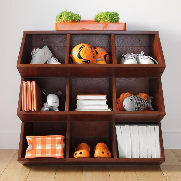 Toy boxes are the most standard kind of toy storage, and with so many toy boxes to choose from, you're sure to find the right one. Toy organizer bins or stackable toy drawers to stow away games and puzzles can keep things out in the open, but still neat and tidy.