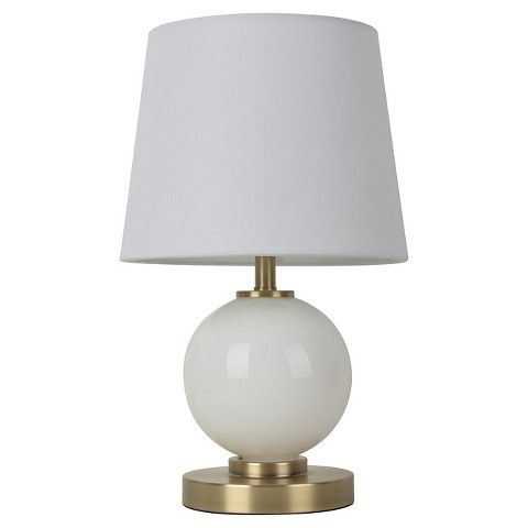 Glass Ball Table Lamp With Touch On Off Includes Cfl Bulb Pillowfort Glass Table Lamp Table Lamp Glass Table