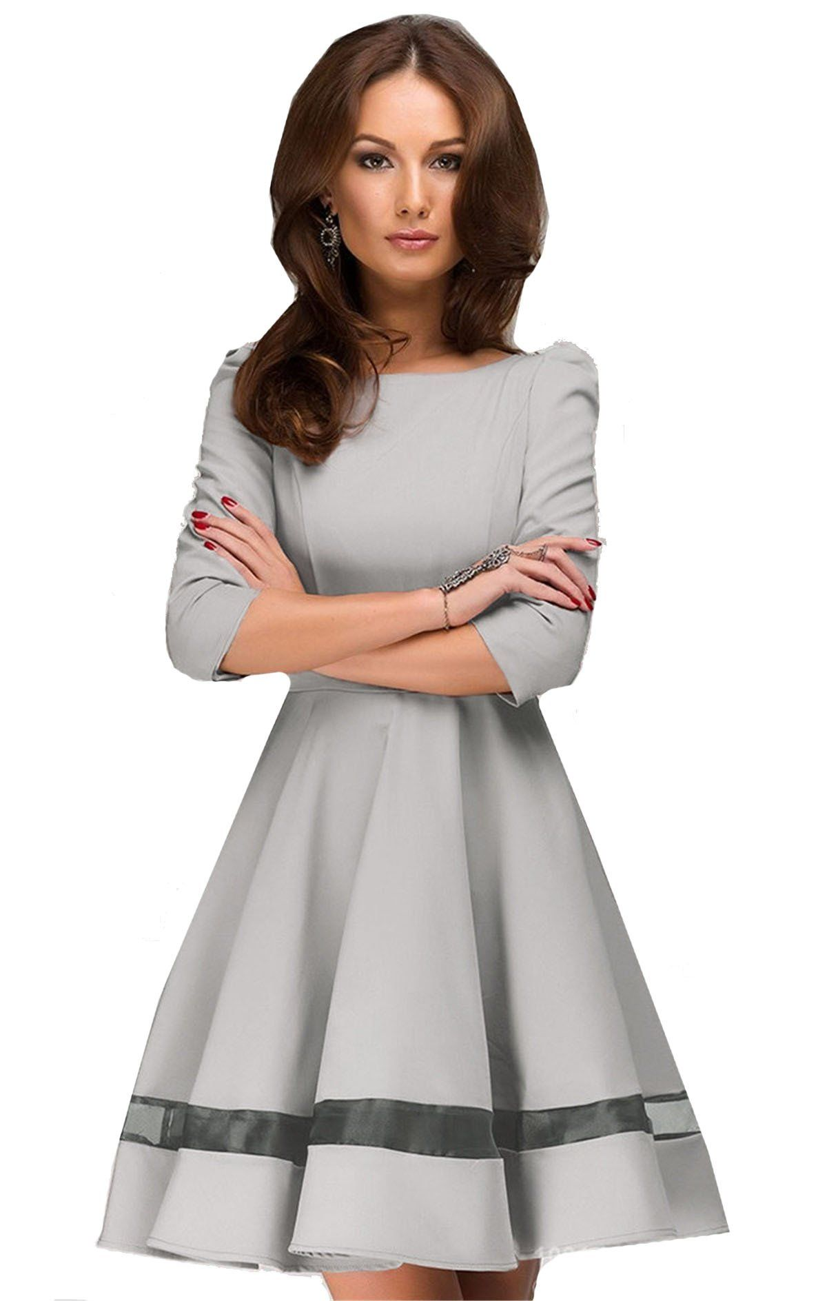 Shein Women S Grey Casual Round Neck Pleated Mini Dress At Amazon Women S Clothing Store Pleated Mini Dress Pleated Dress Pretty Dresses [ 1887 x 1200 Pixel ]