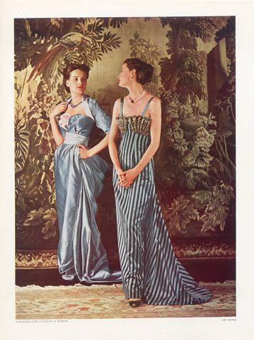 Christian Dior 1948 Paquin, Vestido de Noite, Foto Pottier