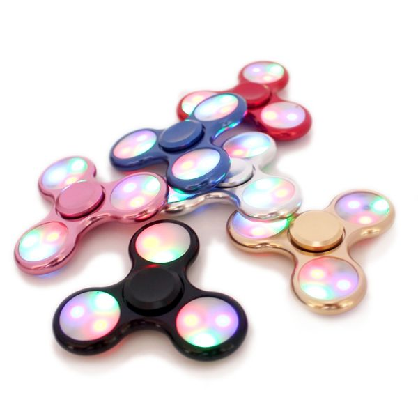 ECUBEE Hand Spinner Replaceable Batteries LED Light Finger Spinner Fidget Spinner Gadget 5Colors