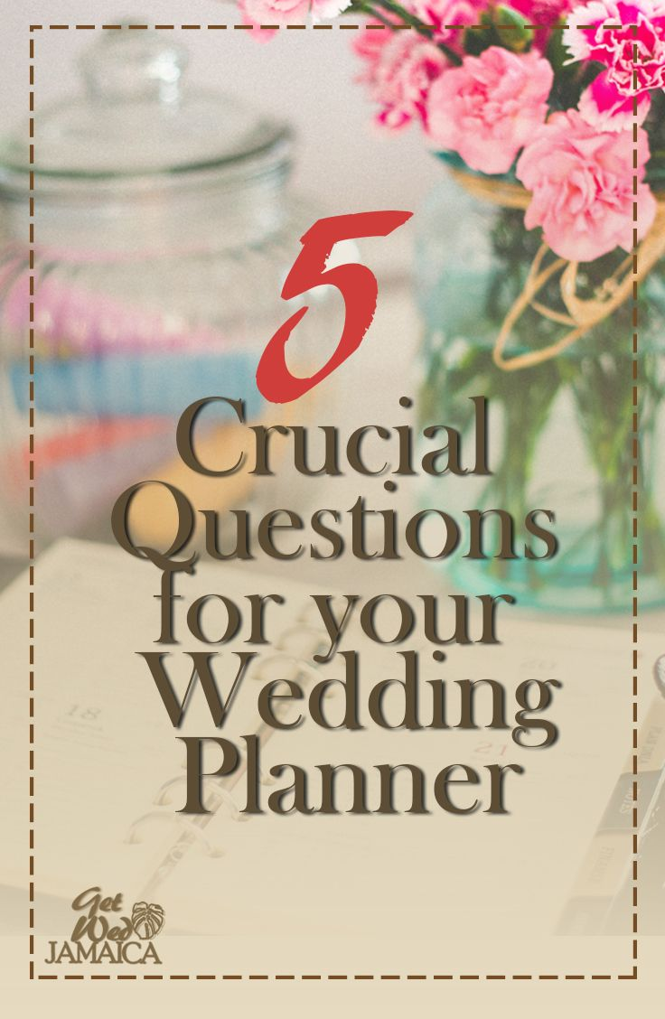 Not Sure What To Ask Your Wedding Planner Here Are 5 Crucial Questions That You