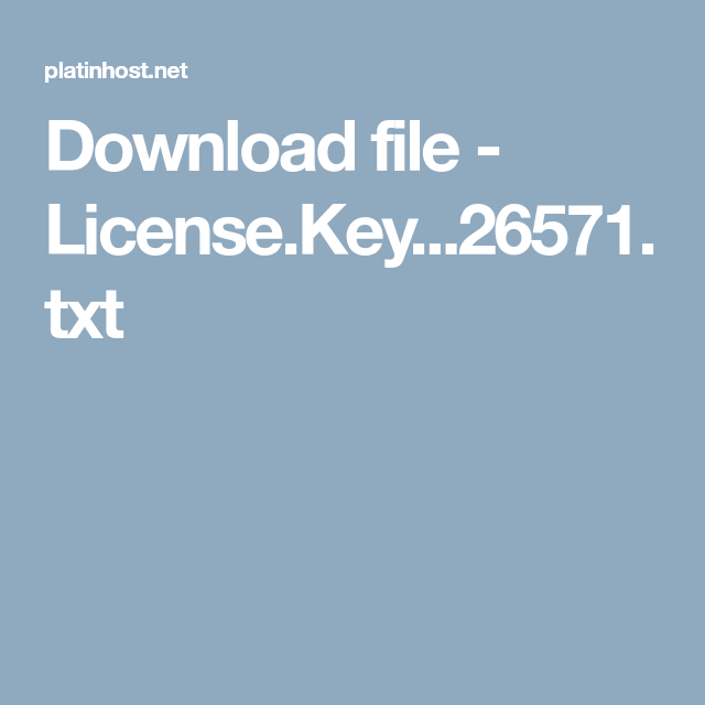 Download file - License Key   26571 txt | fifa download in