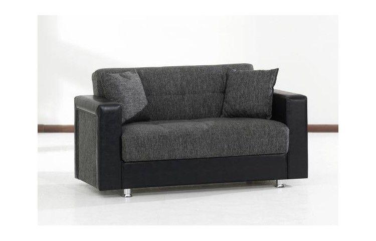 239 2 Sitzer Nino Schwarz Grau Bei Poco De Couch Mobel Couch Mit Schlaffunktion Sofa