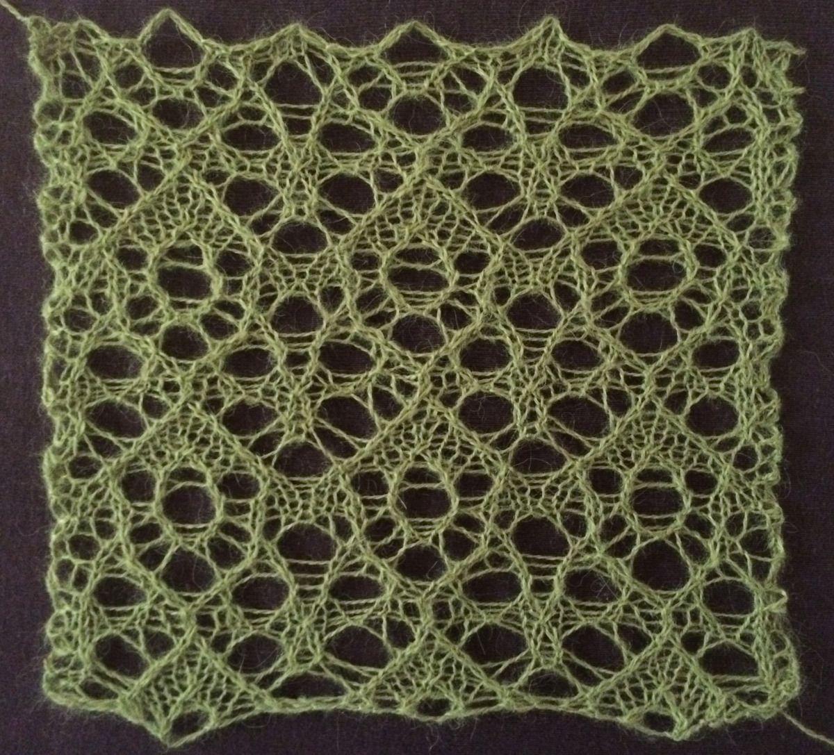 Fruitbat: a free lace knitting stitch pattern. | Bats, Knitting ...