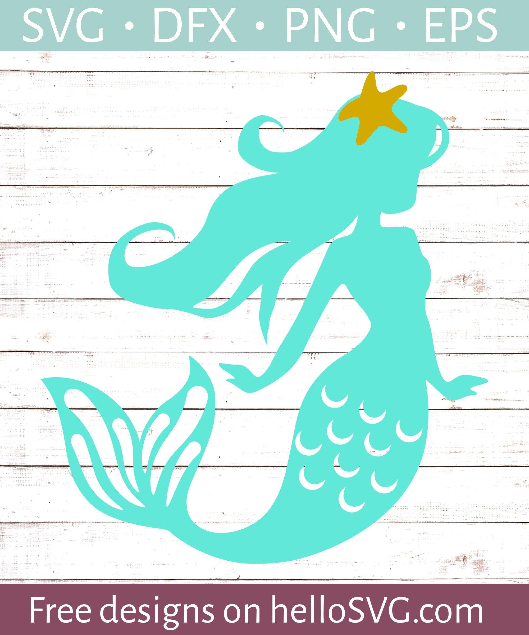 Starfish Mermaid SVG Free SVG files