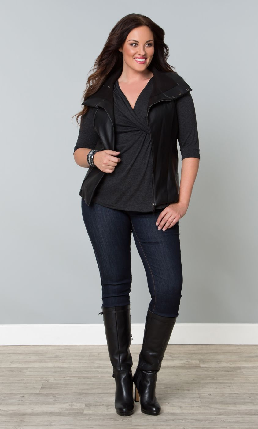 Dress a little edgy this season by pairing our plus size Katniss ...