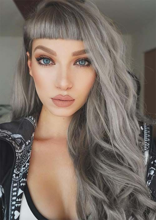 10 Ultra Cool Shades Of Winter Hair Color 2020 Ultimate Guide Silver Grey Hair Grey Hair Color Colored Hair Tips