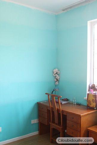 Ciloubidouille mur en d grad de couleur peinture for Chambre technique