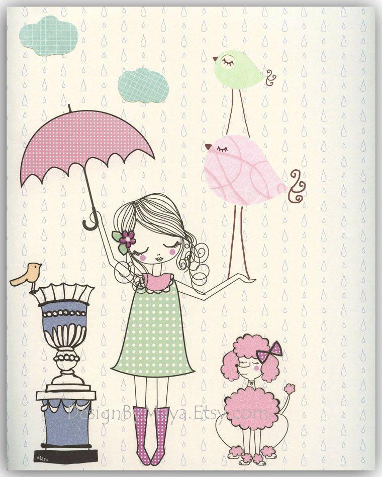 Vintage Inspired Classic Soft Pink Nursery: Baby Girl, Nursery Wall Art Print, Baby Room Decor, Paris