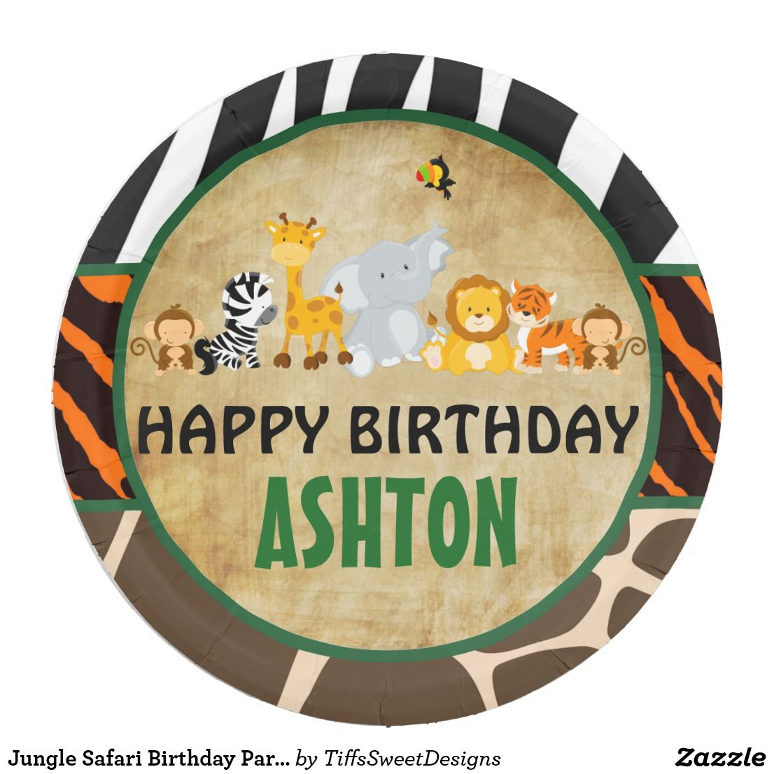 sc 1 st  Pinterest & Jungle Safari Birthday Party Paper Plate