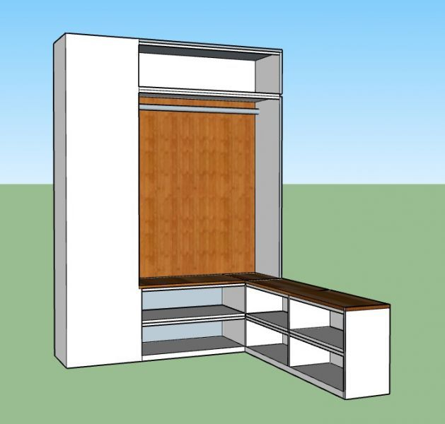 Neue Garderobe Fur Den Flur In 2020 Garderobe Selber Bauen Garderobennische Garderoben Eingangsbereich
