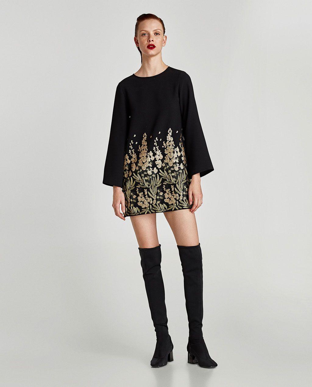 Vestido mini bordado fantasia