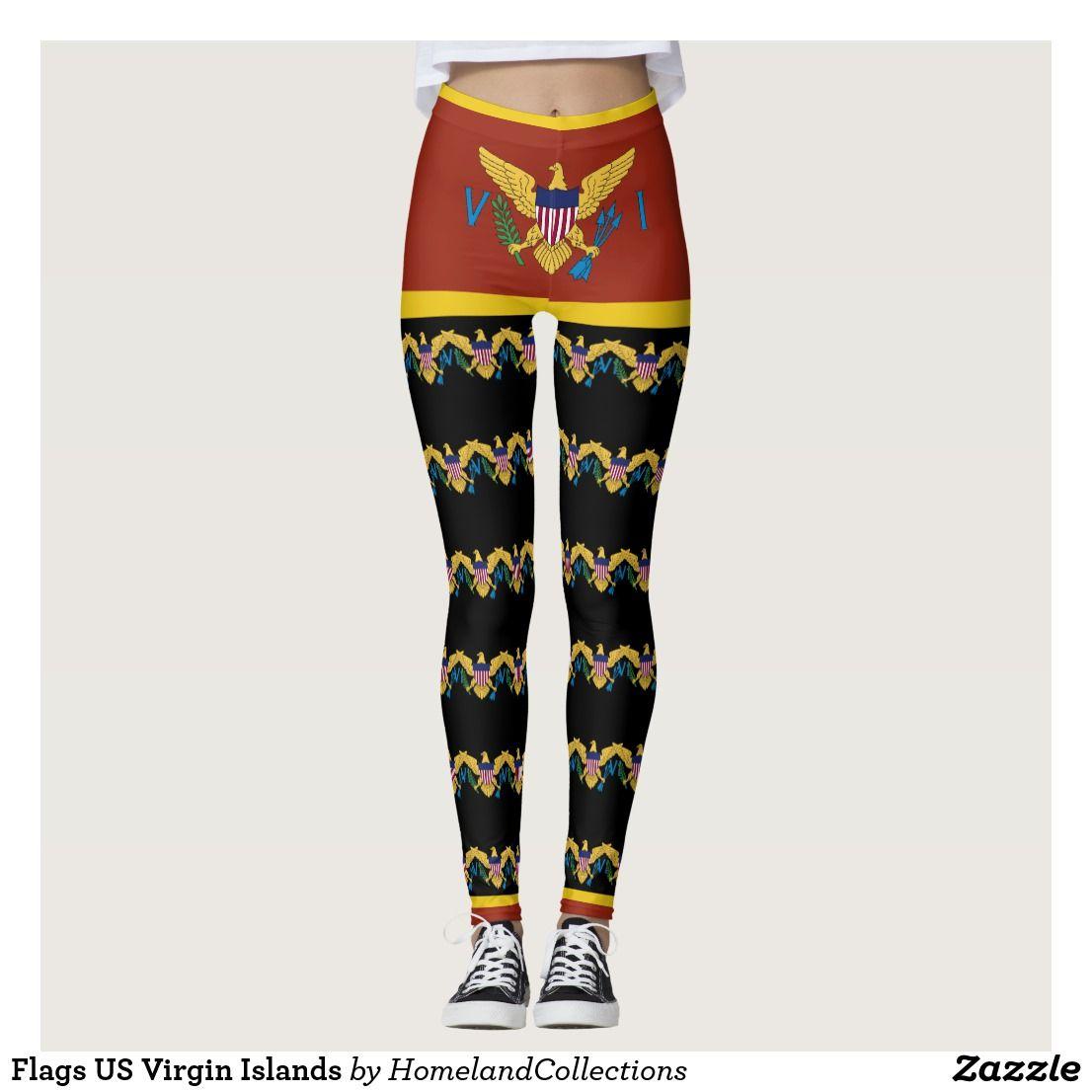 Virgin Islands Flag Caribbean Usvi Leggings Zazzle Com Outfits With Leggings Virgin Islands Flag Leisure Wear