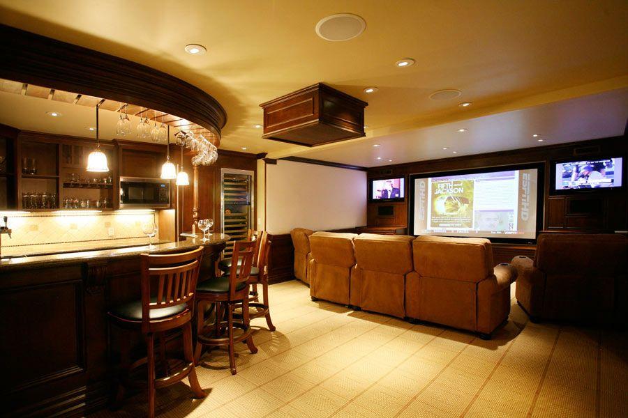 entertainment room | architecture design entertainment rooms bar ...