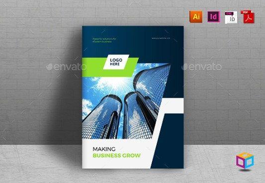 Company Profile Perusahaan Tema Biru  Best Company Profile Design