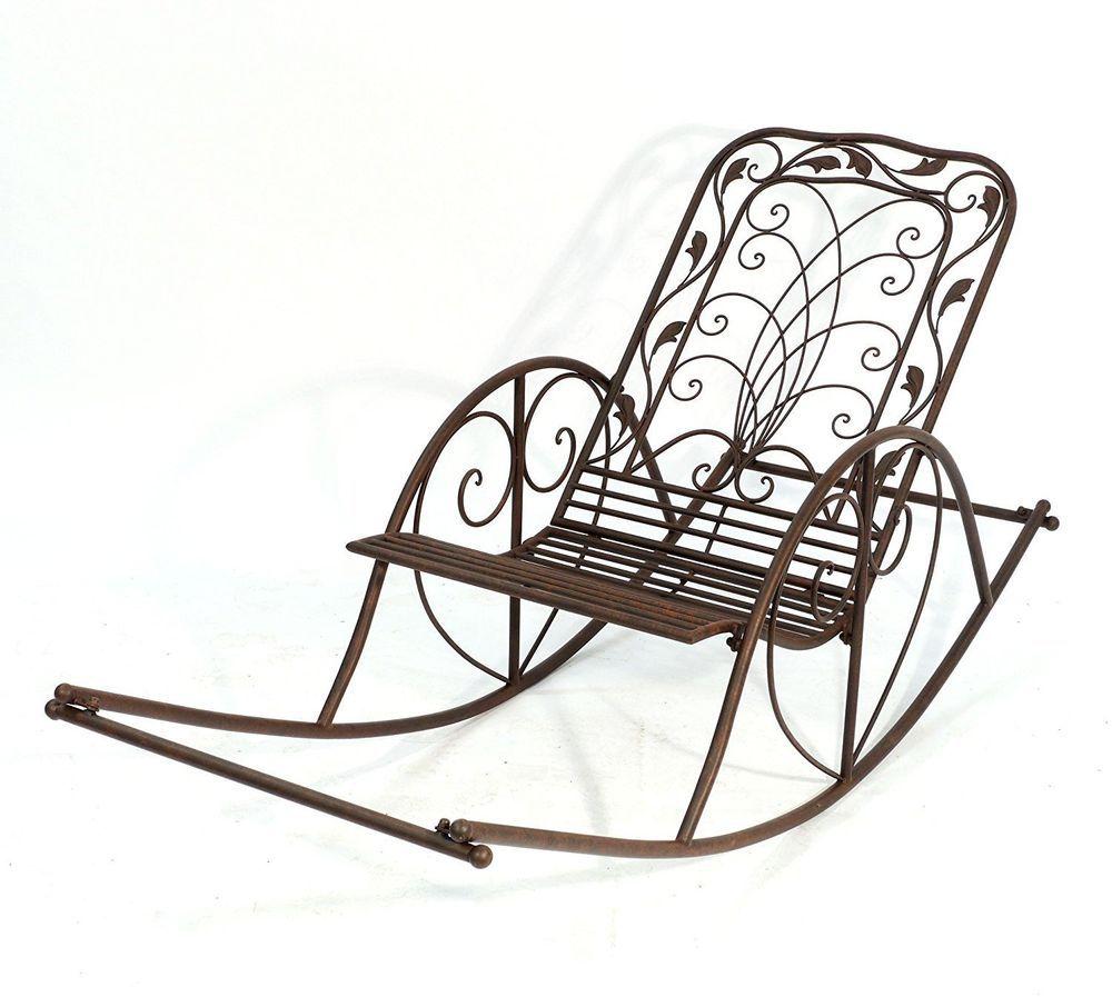 Schaukelstuhl 18355 Metall Gartenstuhl Schwingsessel Metallstuhl Garten  Antik