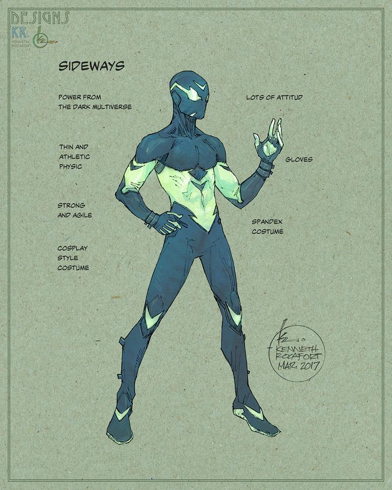 CHARACTER MODEL — Sideways by Kenneth Rocafort @mitografia [ DC's... |  Superhero design, Superhero art, Superhero characters