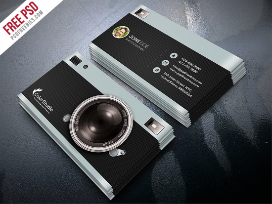 Free Photography Business Card Template PSD Freebies