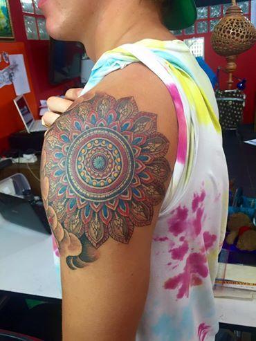 Mandala Thai Koh Tao Bamboo Tattoo Thailand Koh Tao Artist Nui