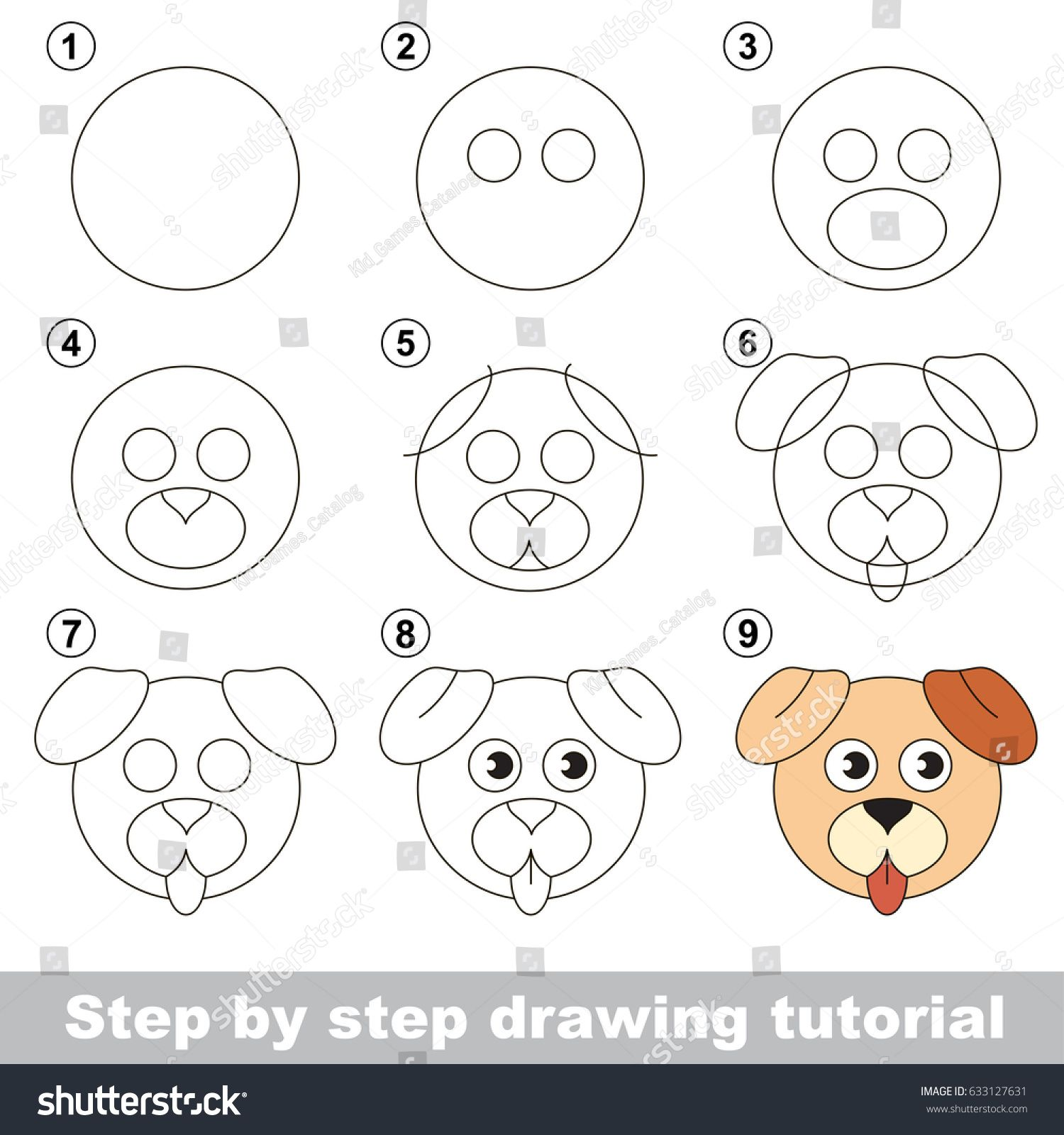 Kid game to develop drawing skill with easy gaming level for preschool kids, drawing educational tutori… | Easy drawings, Easy drawings for kids, Puppy drawing easy