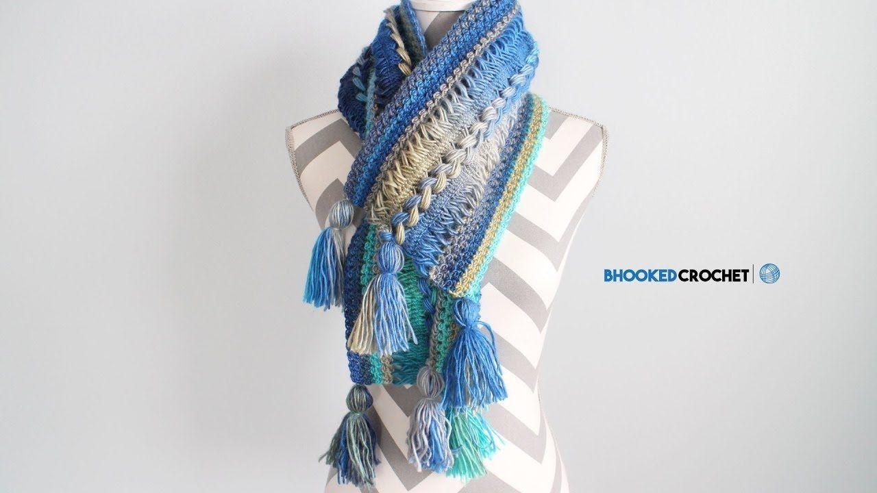 Waves Crochet Hairpin Lace Infinity Scarf | crochet | Pinterest
