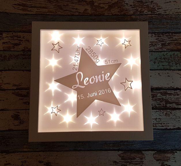 Beleuchteter Bilderrahmen Geschenk Stern Sterne Pinterest Bebe