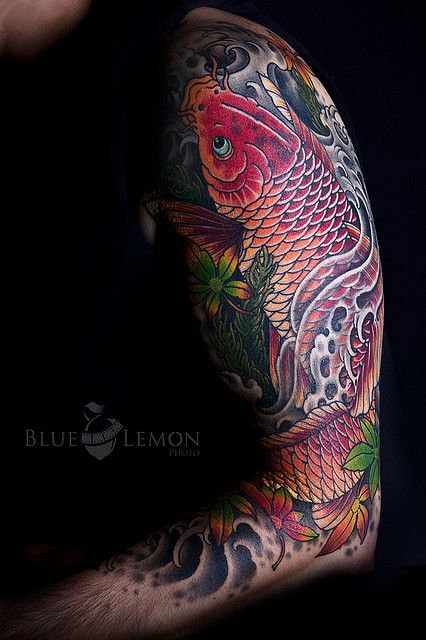 my koi tattoo tatoo tattoo ideen und japanische tattoos. Black Bedroom Furniture Sets. Home Design Ideas