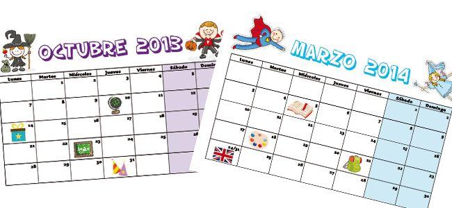 Calendario Escolar 2013 2014 Para Imprimir Calendario Escolar Calendario Educacion
