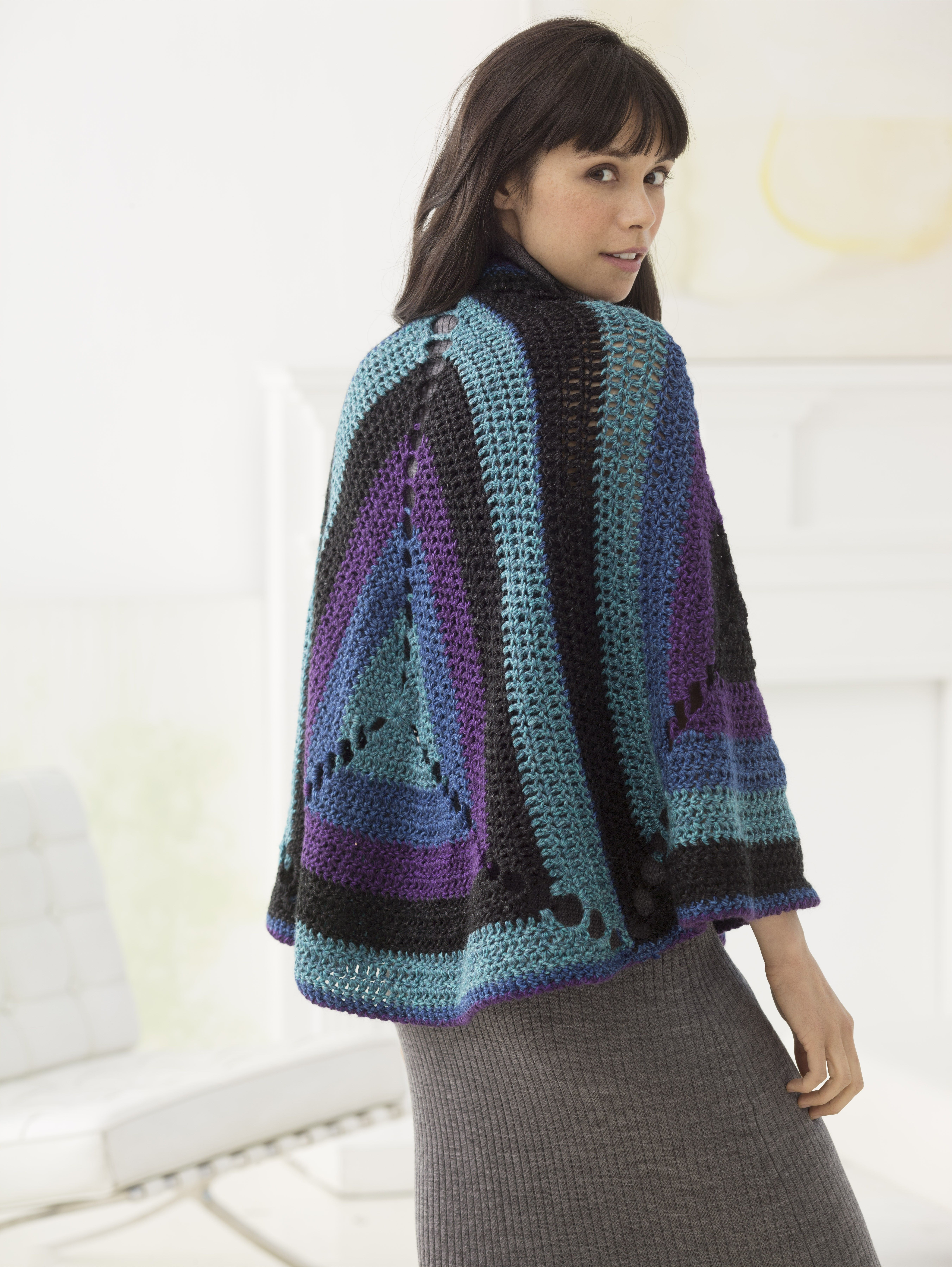 Granny Triangles Shawl (Crochet) - Patterns - Lion Brand Yarn ...