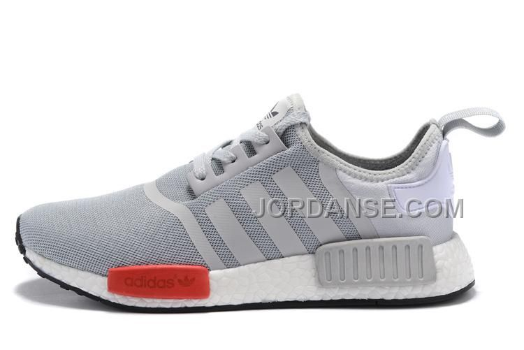 / adidas nmd runner grigio bianco - rosso uomini / donne 122