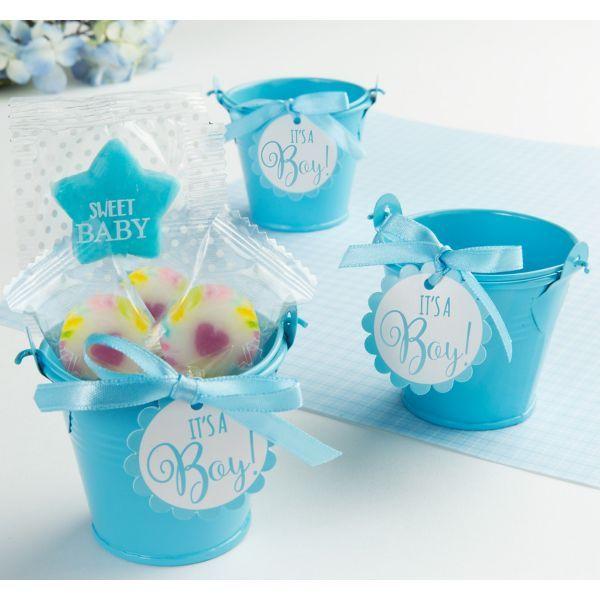 Blue Metal Pail Baby Shower Favor Kit 8ct Baby Shower Favors Favor Kits Kids Party Supplies