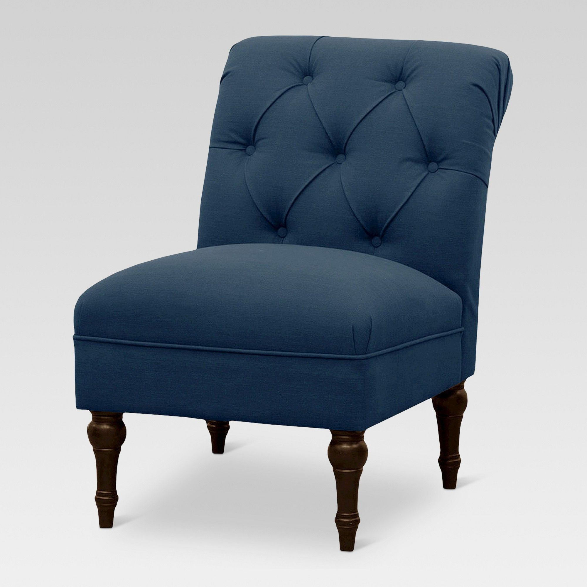 Best Tufted Rollback Slipper Chair Denim Navy Threshold 400 x 300