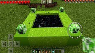 Entering the Creeper Portal in Minecraft Pocket Edition (NO
