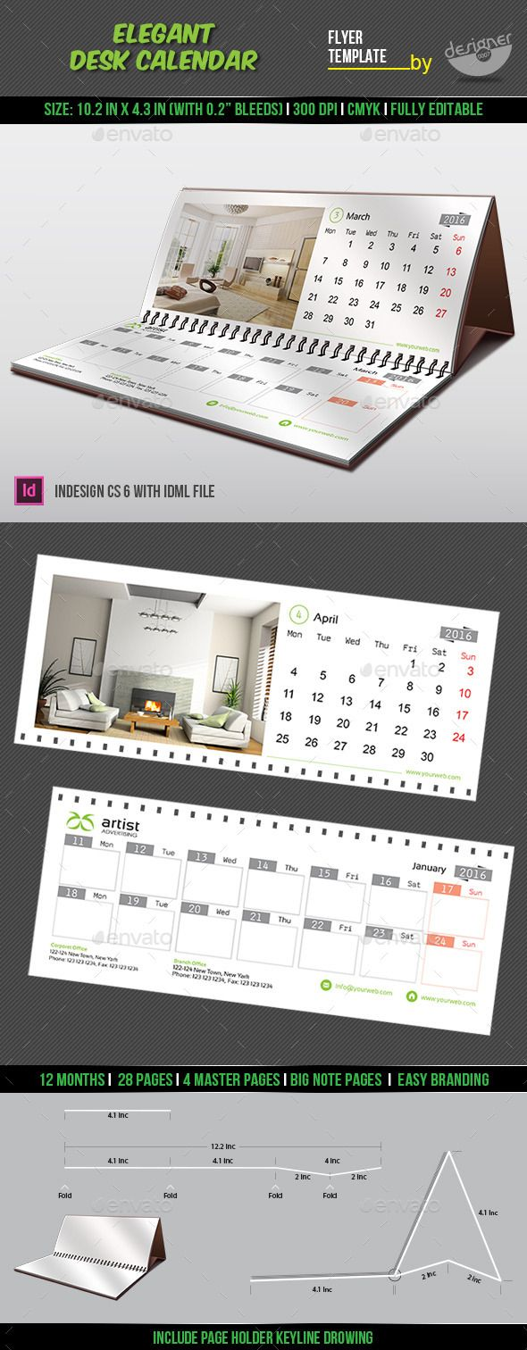 Table Calendar 2016 : Elegant desk calendar calendars pinterest