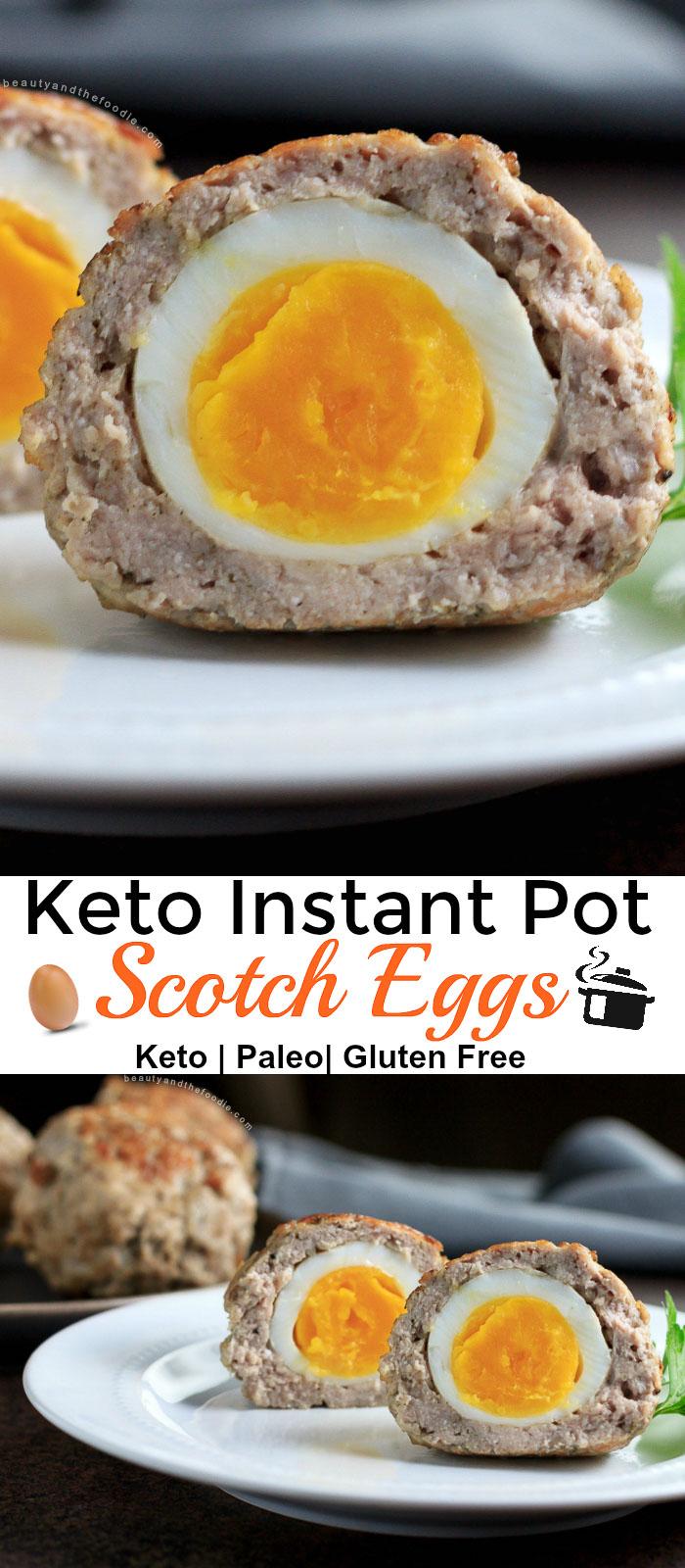Instant Pot Keto Scotch Eggs -   18 healthy recipes Breakfast keto ideas