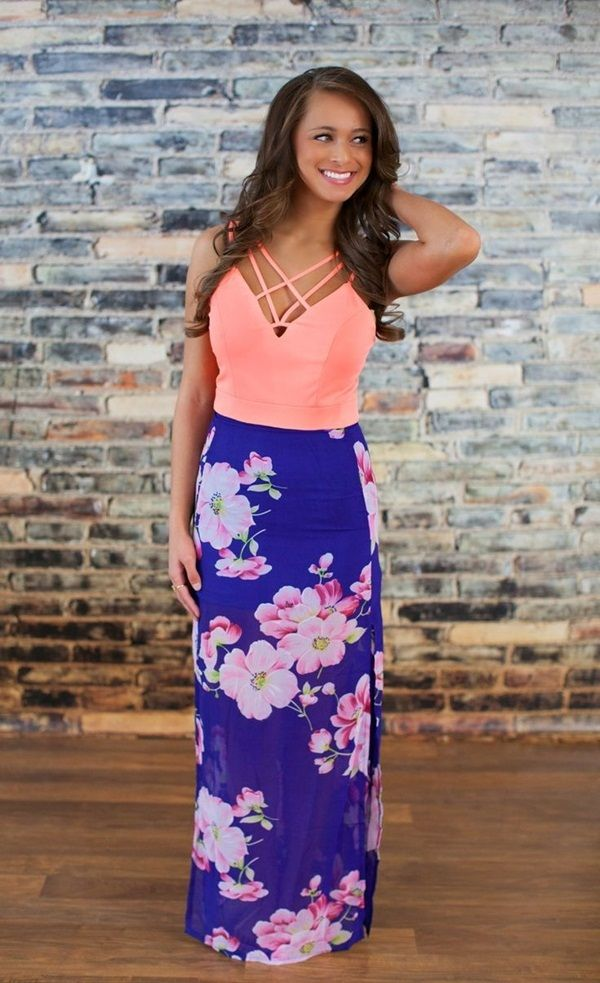 99 Hawaiian Outfit Ideas For Girls | Fashion | Floral maxi
