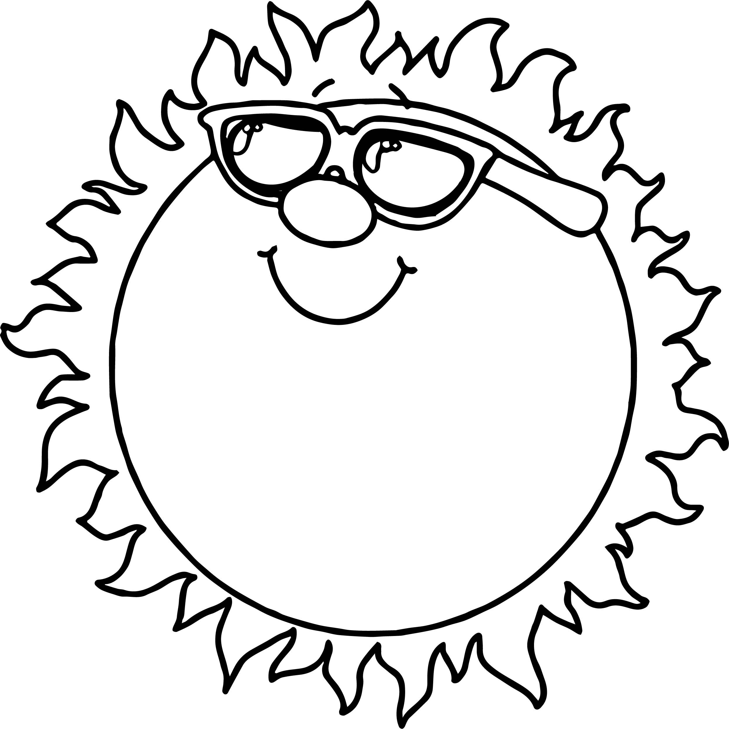 Cool Summer Sun Coloring Page