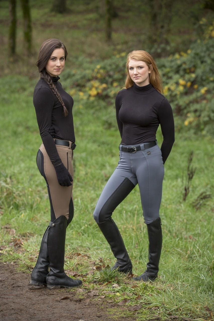 Redhead in breeches and riding boots