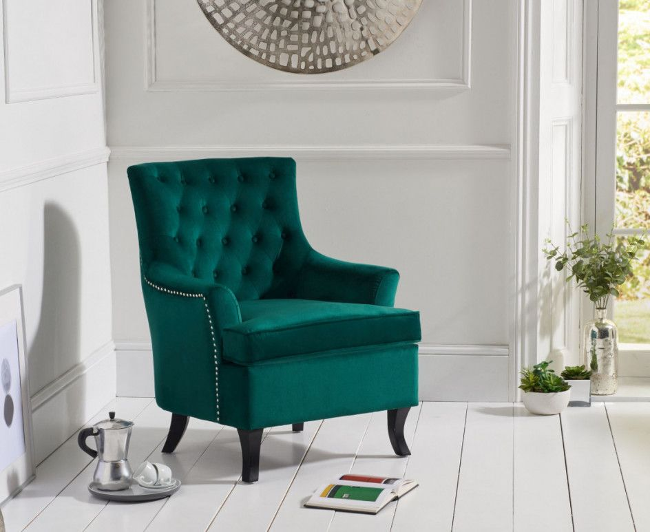 Best Bristol Green Velvet Accent Chair Blue Velvet Accent 400 x 300