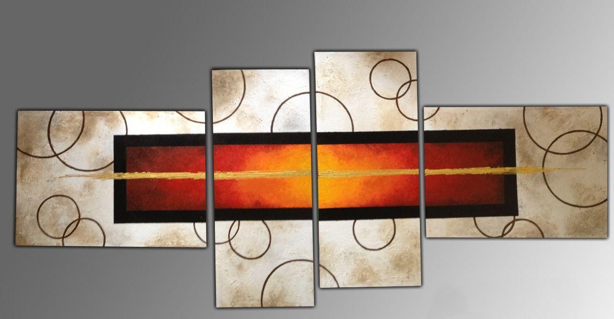 Cuadros modernos tripticos decorativos abstractos roggero for Cuadros decorativos abstractos