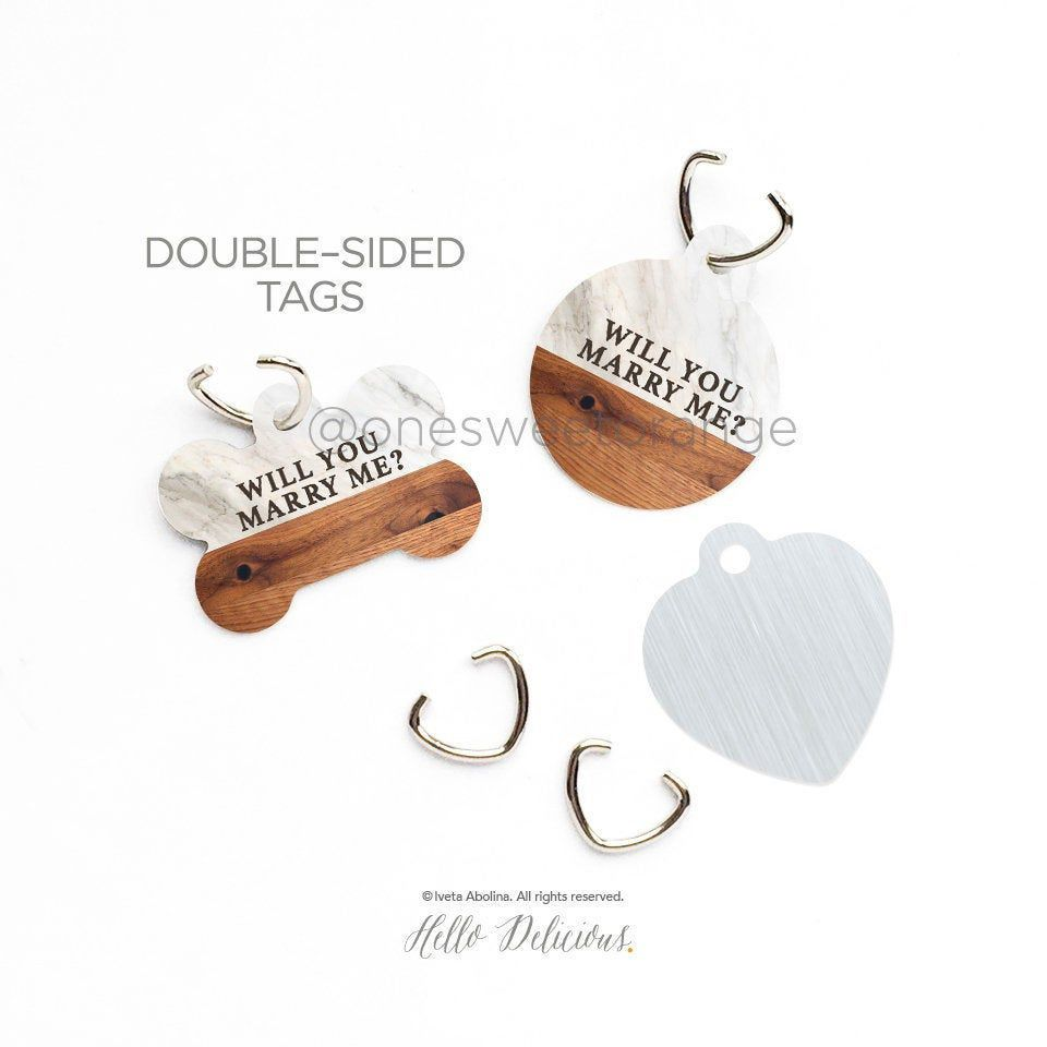 Will You Marry Me Dog Tag Proposal Dog Tag Proposal Puppy Tag