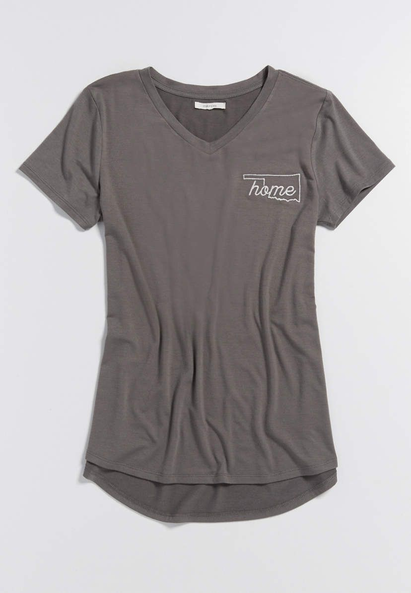 home tee with embroidered Oklahoma state outline | maurices