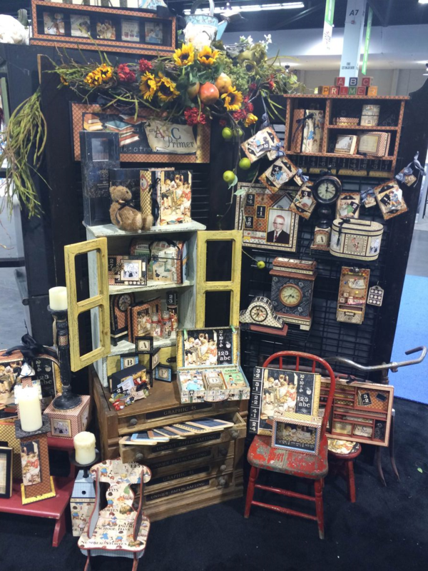 An ABC Primer display at Winter CHA 2015 #graphic45 #CHAShow #g45atCHAshow