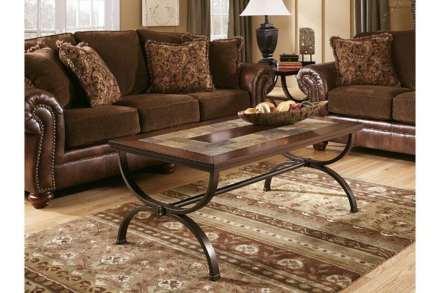 Brown Zander Coffee Table By Ashley Furniture Coffee Table Wood