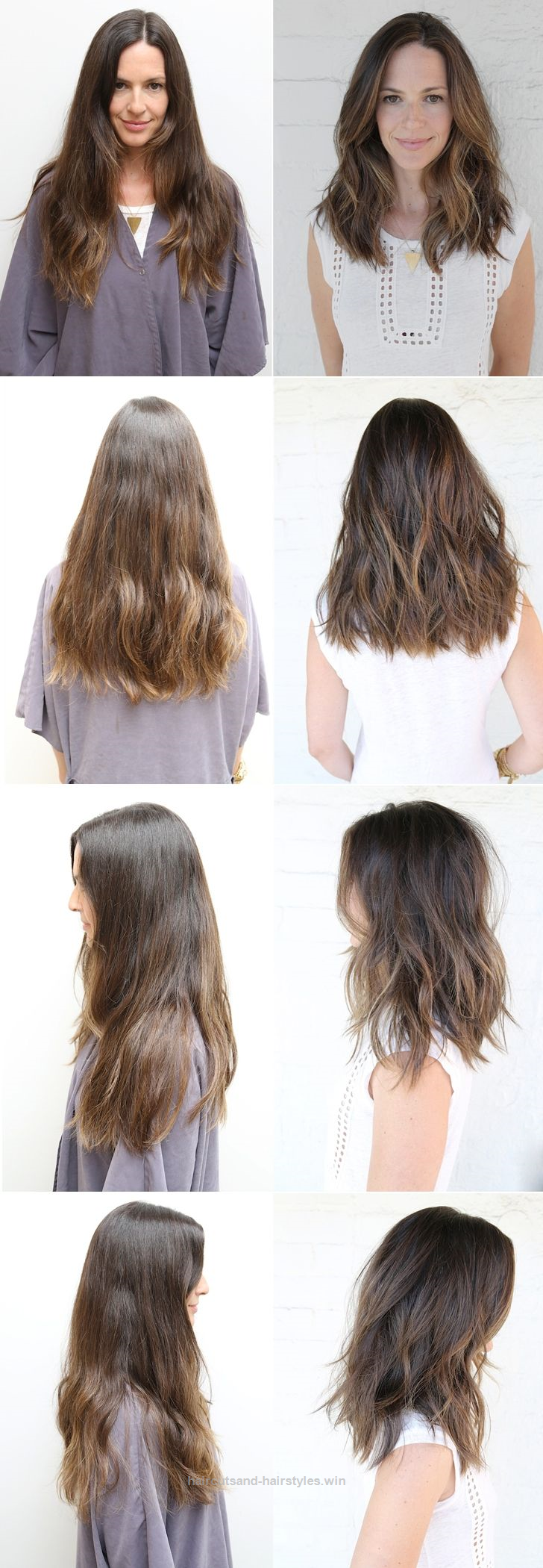 soft A-line undercut with long layers | Medium length haircuts ...