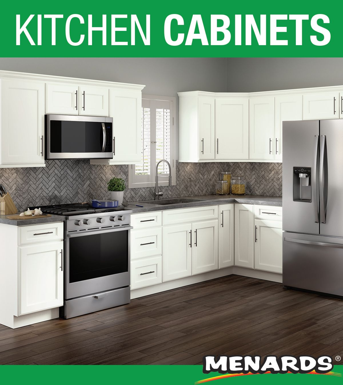 Cardell Designer Collection Rockney Dove White 19 L Kitchen Cabinets Only Menards Kitchen Top Kitchen Appliances Top Kitchen Appliance Brands