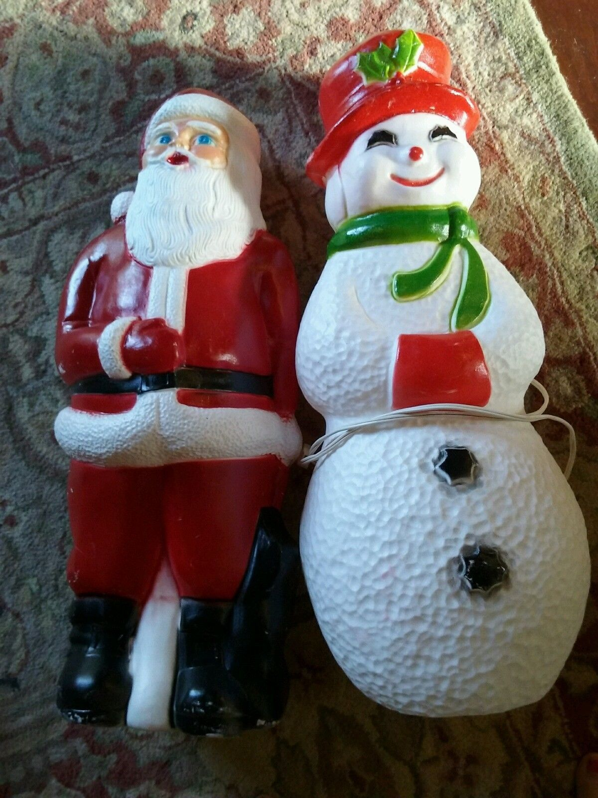 vintage christmas union products snowman santa blow mold pair 2 blowmolds ebay blow molding - Vintage Christmas Blow Molds