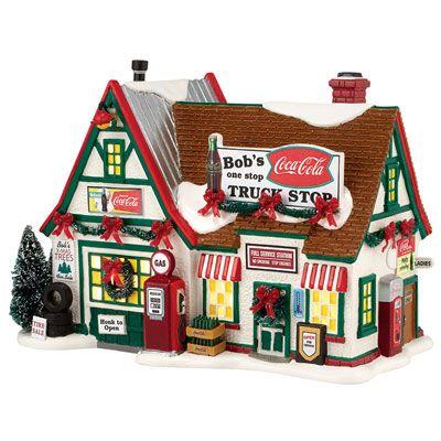 Dept 56 Snow Village Coca-Cola Bob's Truck Stop